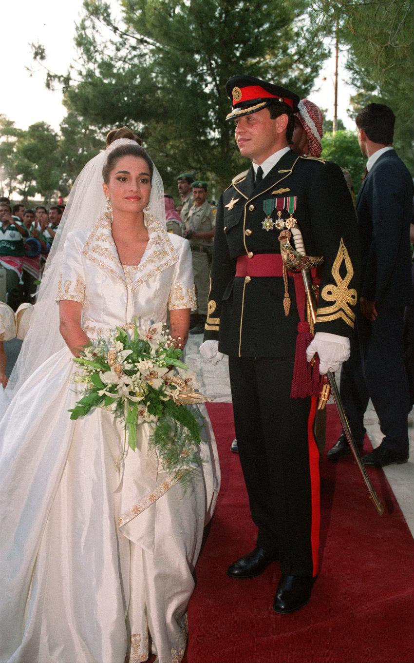 Risultati immagini per matrimonio rania di giordania