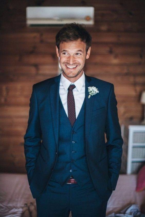 Navy Blue Groom Suits #weddings #groom #groonsuits #weddingideas #weddinginspiration #himisspuff