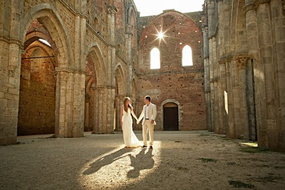 Amy & Charles at San Galgano Abbey