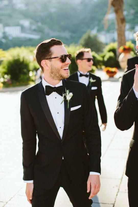 Groom Style | Formal Black Tuxedo and Bow Tie Outfit #menswear #menstyle #mensfashion #suits #gentlemanstyle #classicmenswear #groomattire #weddingstyle