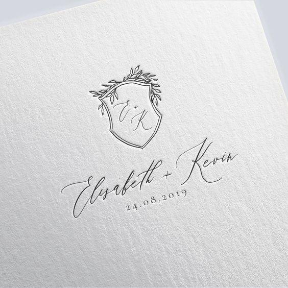 Wedding logo design custom wedding monogram crest wedding | Etsy