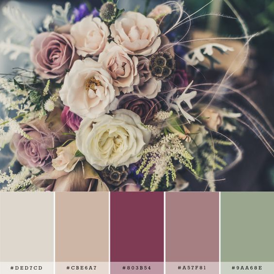 """Wedding color palette: how to color your wedding without any """"smudges""""!"""